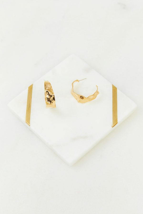 Positano Earrings Ladies Jewelery Colour is Gold