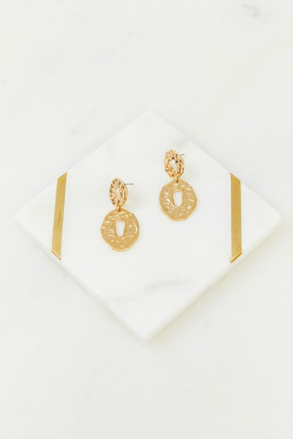 Amalfi Earrings Ladies Jewelery Colour is Gold