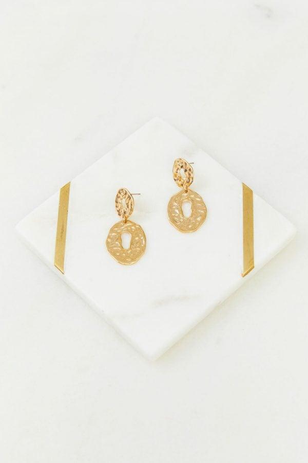 Amalfi Earrings Ladies Jewelery Colour is Gold