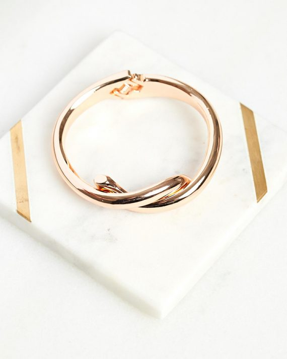 Twisted Bangle Ladies Jewelery Colour is Rosegold