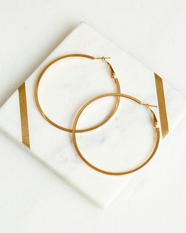 Demi Hoop Earring Ladies Jewelery Colour is Gold