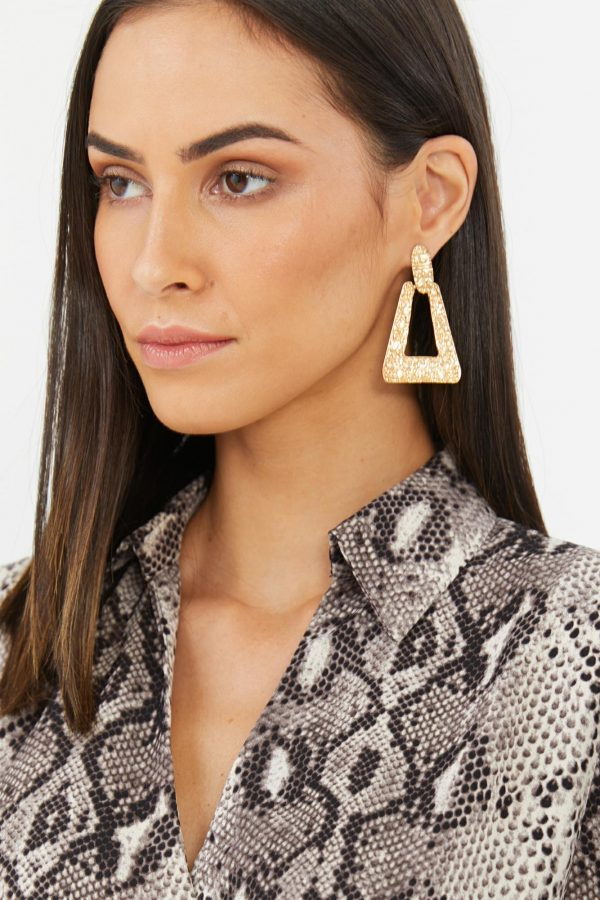 Artefact Earring Ladies Jewelery Colour is Gold