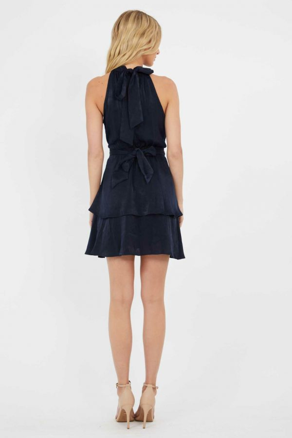 Grenadine Dress Ladies Dress Colour is Navy
