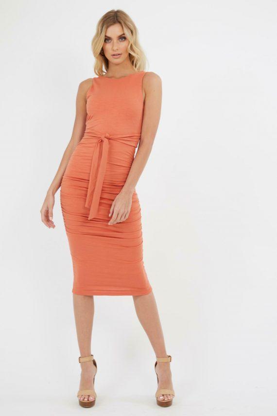 Positano Dress Ladies Dress Colour is Copper
