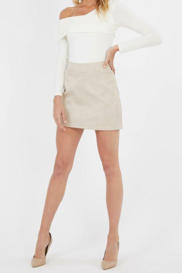 Mastermind Skirt Ladies Skirt Colour is Cream