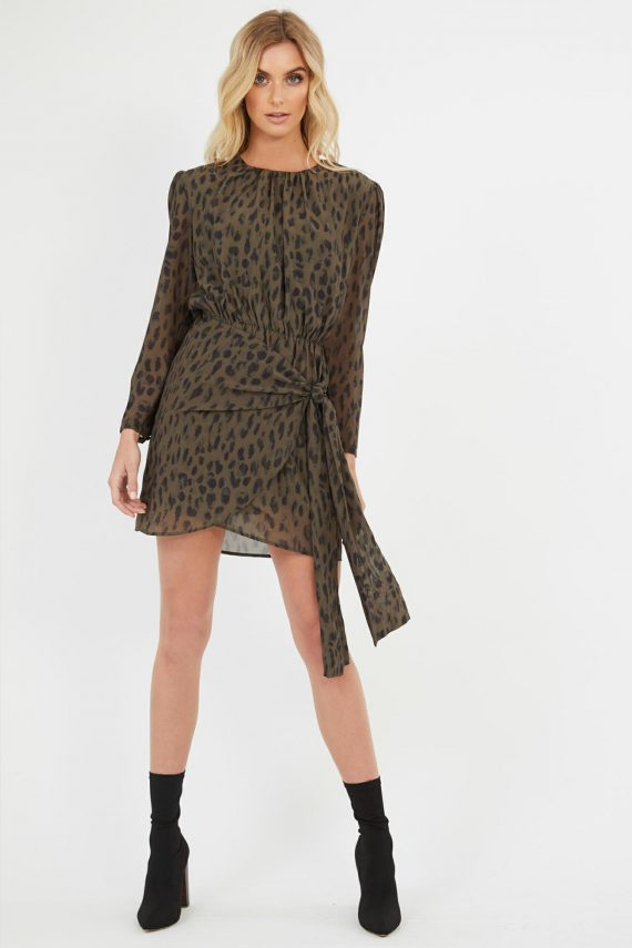 Wild Leopard Dress Ladies Dress Colour is Wild Leopard Print