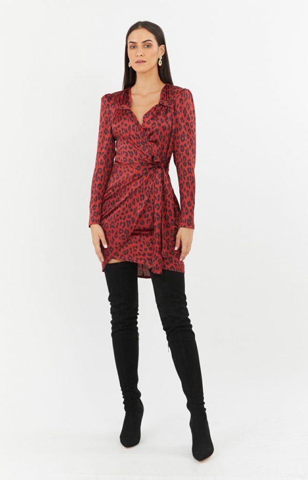 Vixen Dress Ladies Dress Colour is Wild Leopard Print
