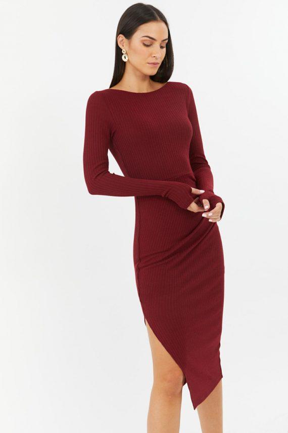 Sierra Dress Ladies Dress Colour is Burgandy