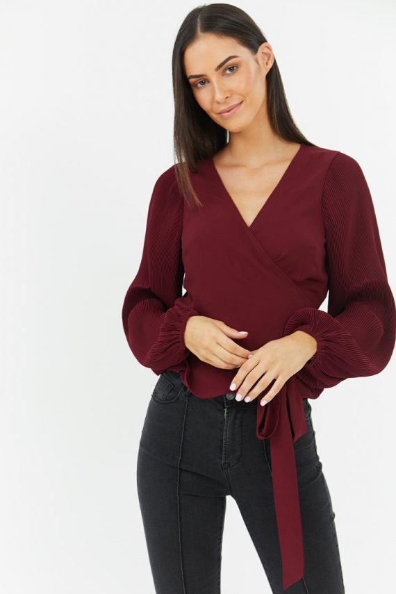 Mica Top Ladies Top Colour is Wine