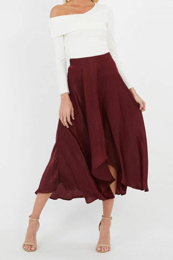 Grenadine Skirt Ladies Skirt Colour is Burgandy