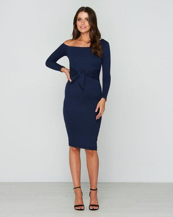 One Kiss Dress Ladies Dress Colour is Navy