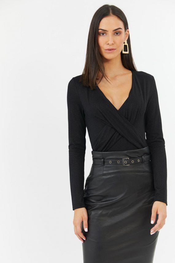 Stargazer Bodysuit Ladies Top Colour is Black