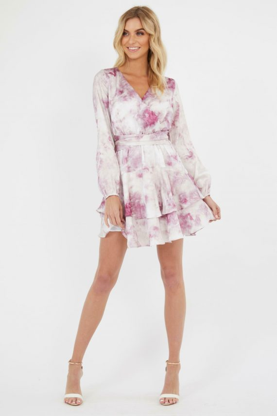 Atrani Dress Ladies Dress Colour is Pink Tie Dye