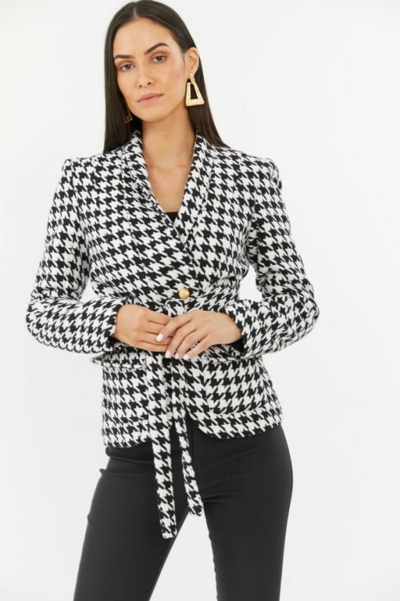 Sadie Jacket Ladies Jacket Colour is Black/white Check