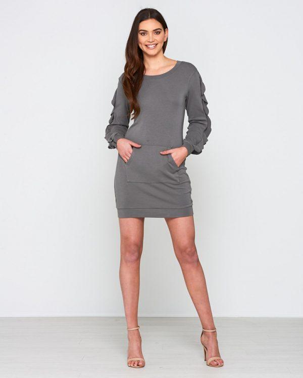 Hope Dress Ladies Dress Colour is Charcoal