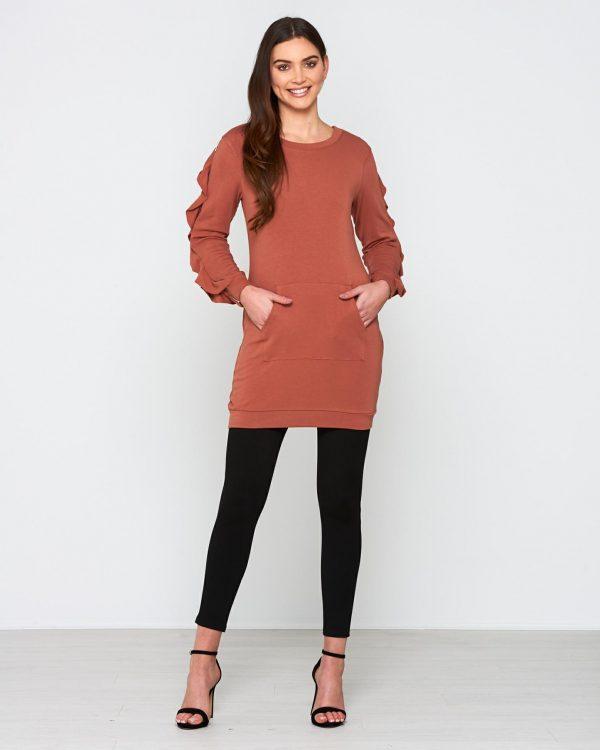 Hope Dress Ladies Dress Colour is Copper