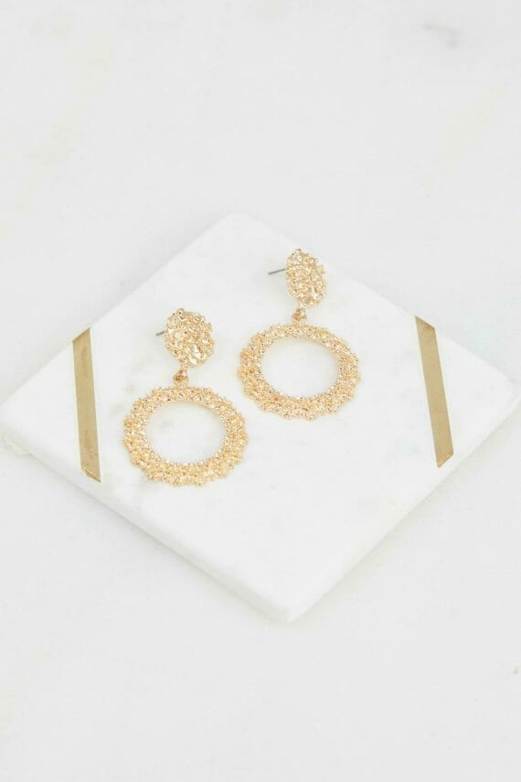 Kylie Earring Ladies Jewelery Colour is Gold