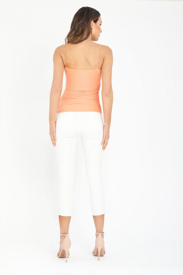 Melenia Top Ladies Top Colour is Mango