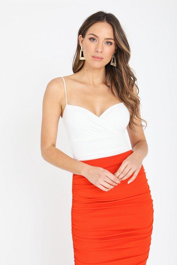 Melenia Top Ladies Top Colour is White