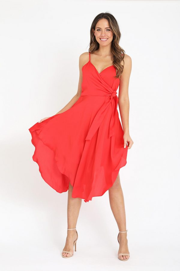 Riviera Dress Ladies Dress Colour is Tomato