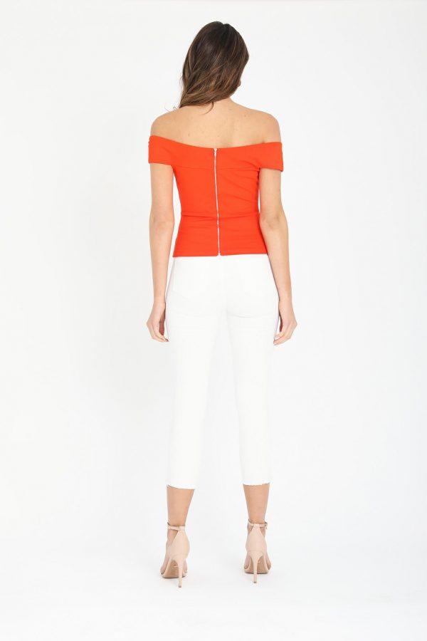Vera Top Ladies Top Colour is Orange