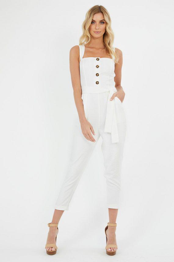 Isola Jumpsuit Ladies Jumpsuit Colour is White