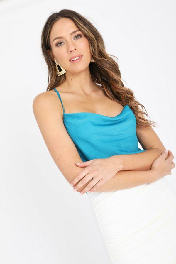 Montenegro Top Ladies Top Colour is Emerald