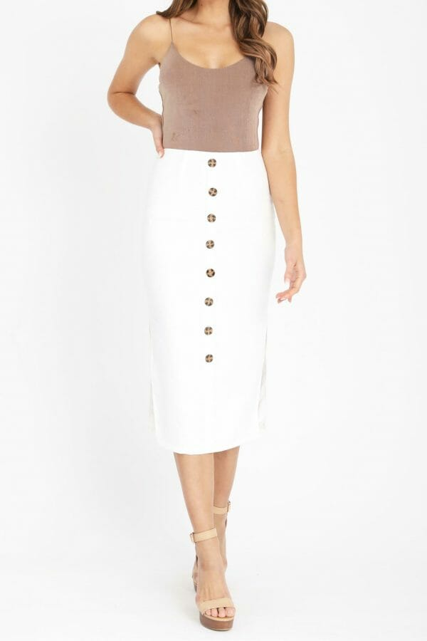 Atlantis Skirt Ladies Skirt Colour is White