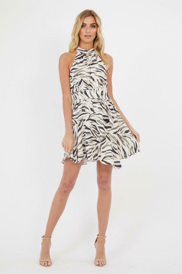 Wild Love Dress Ladies Dress Colour is Zebra Print