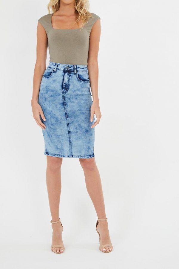 Admirer Skirt Ladies Skirt Colour is Mblu