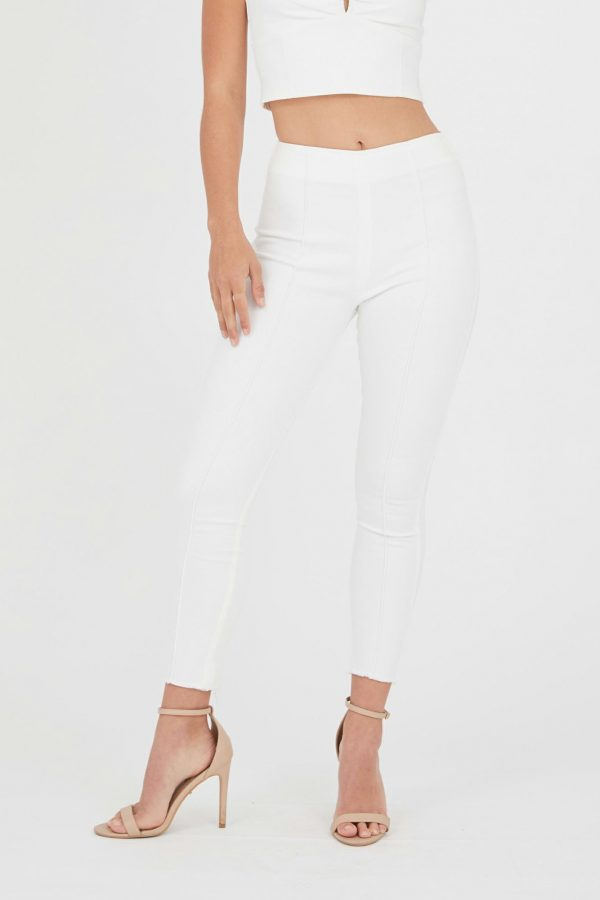 Castara Jean Ladies Dress Colour is White