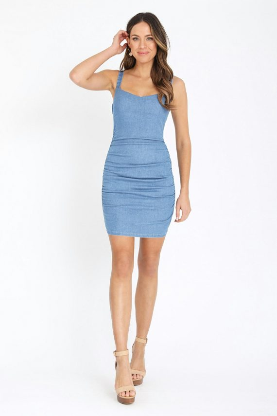Marbella Dress Ladies Dress Colour is Blue