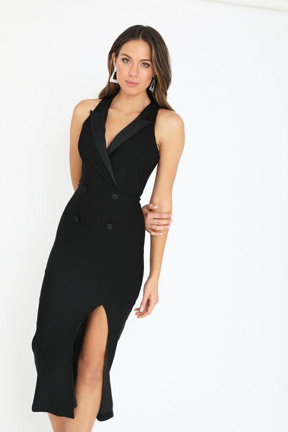 Fontana Dress Ladies Dress Colour is Black