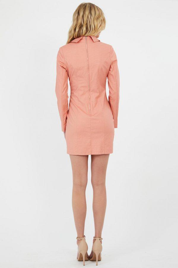 Aperol Dress Ladies Dress Colour is Coral