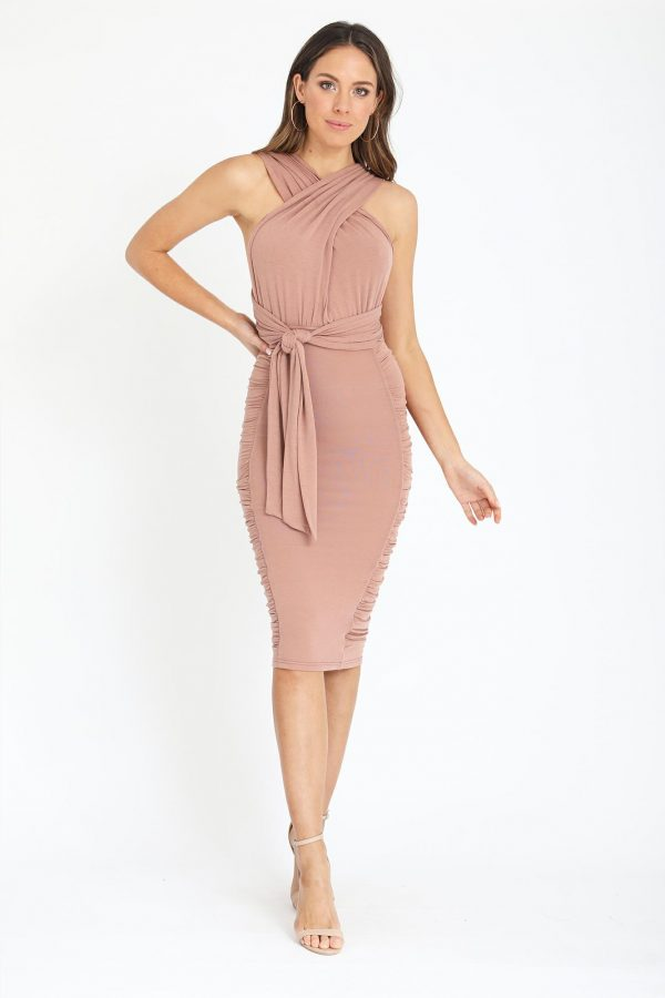 Variety Dress Ladies Dress Colour is Nude