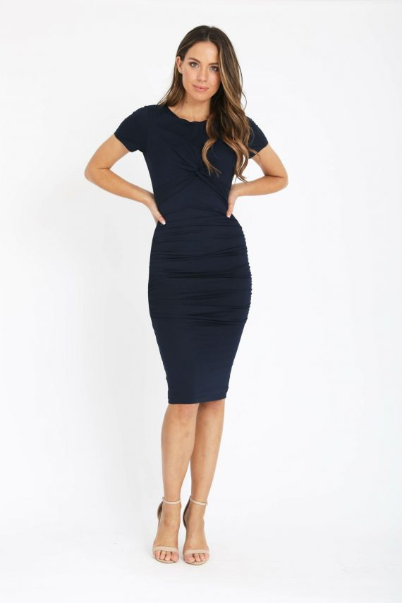 Salerno Dress Ladies Dress Colour is Navy