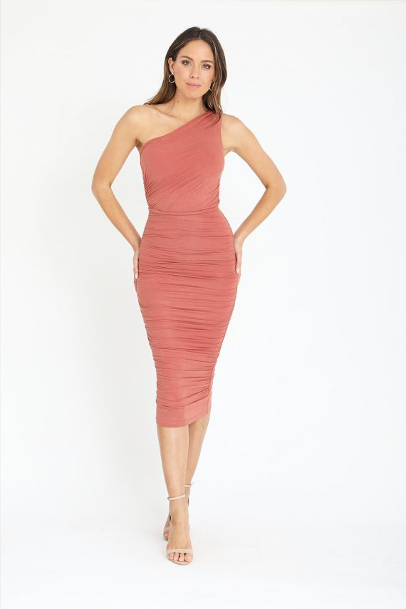 Mordeo Dress Ladies Dress Colour is Copper