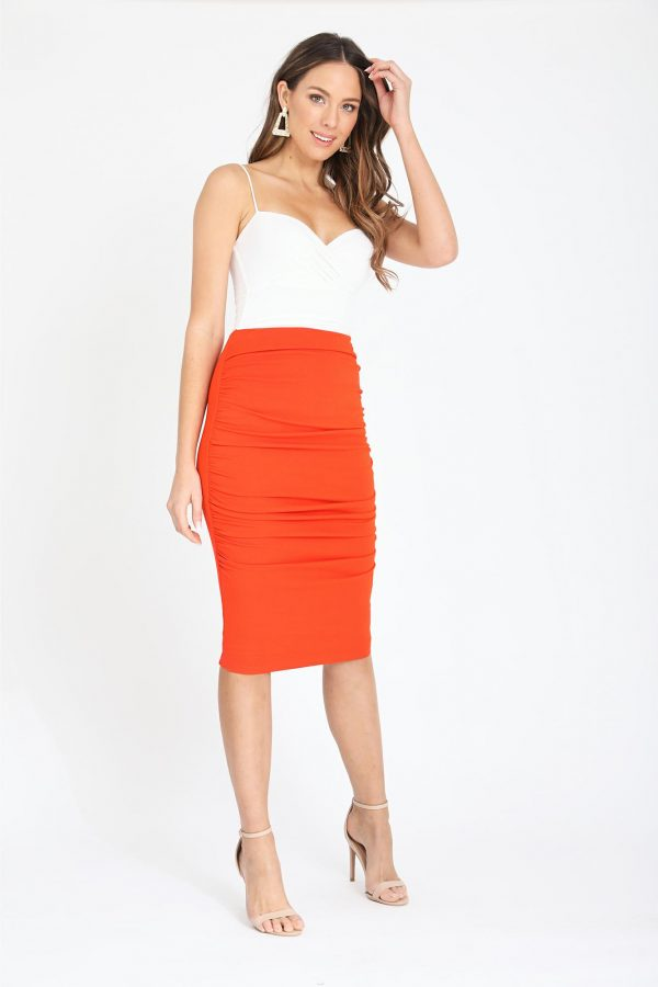 Mira Skirt Ladies Skirt Colour is Orange
