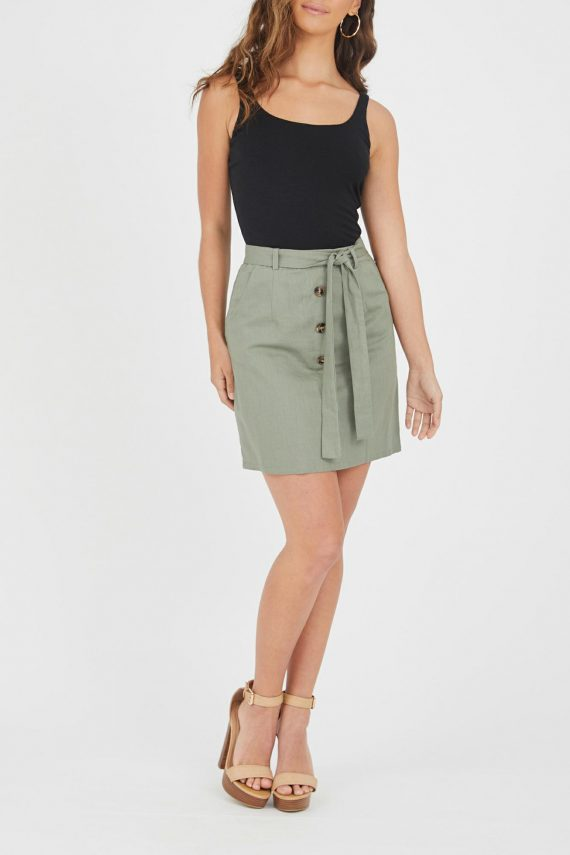 Cavallo Linen Skirt Ladies Skirt Colour is Khaki