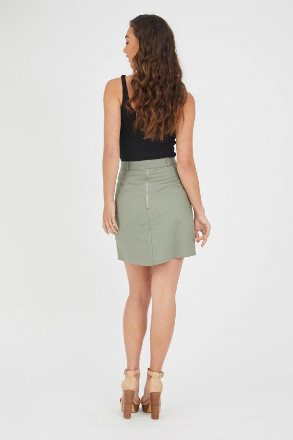 Cavallo Linen Skirt Ladies Skirt Colour is Khaki