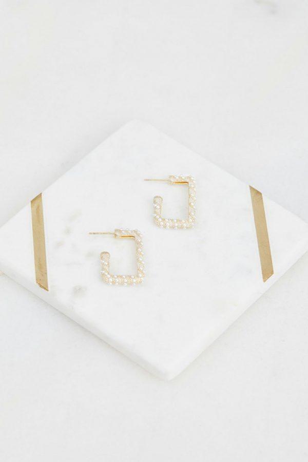 Glitz Earring Ladies Jewelery Colour is White