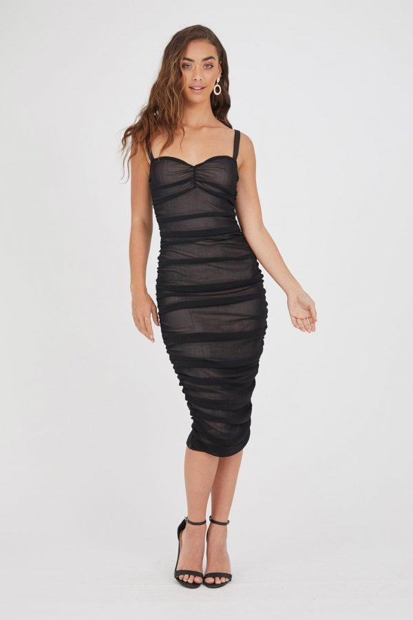 Cha Cha Dress Ladies Dress Colour is Black
