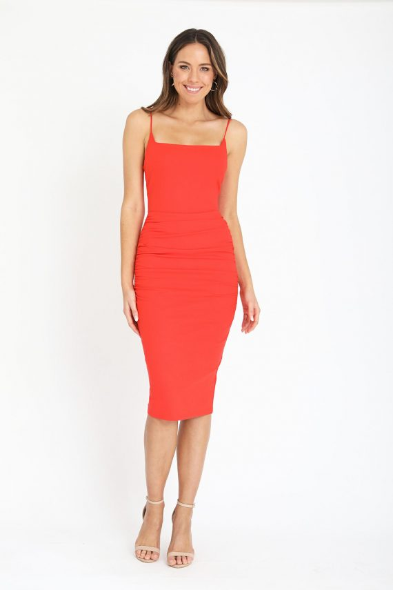 Senara Dress Ladies Dress Colour is Orange
