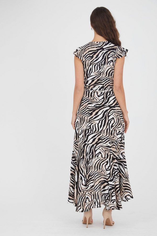 Emarosa Dress Ladies Dress Colour is Beige Zebra Print