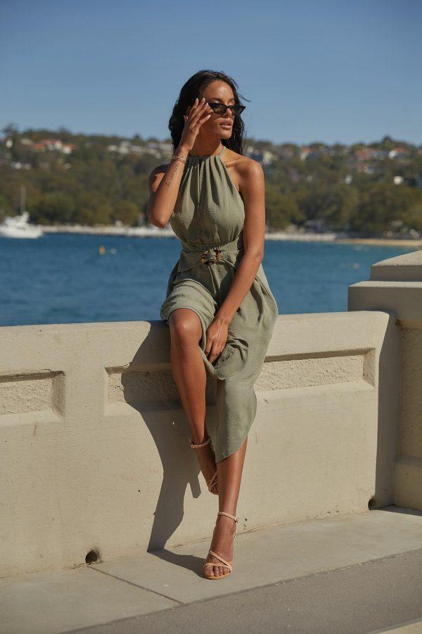 Anatoli Jumpsuit Ladies Jumpsuit Colour is Khaki