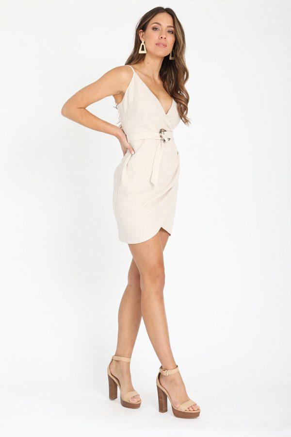 Sandy Bay Dress Ladies Dress Colour is Beige