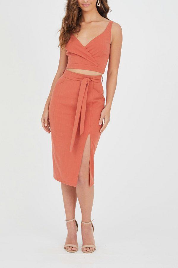 Ocaso Skirt Ladies Skirt Colour is Rust