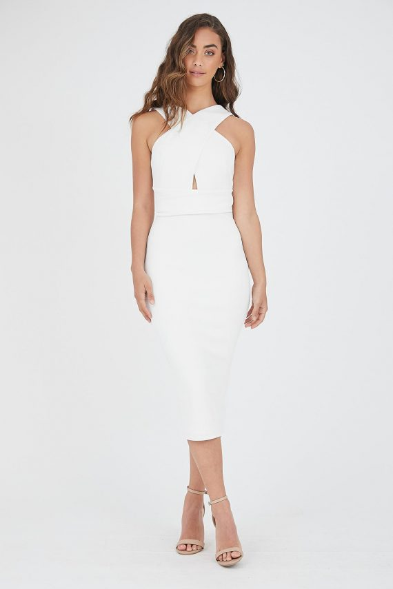 Bombshell Dress Ladies Dress Colour is White