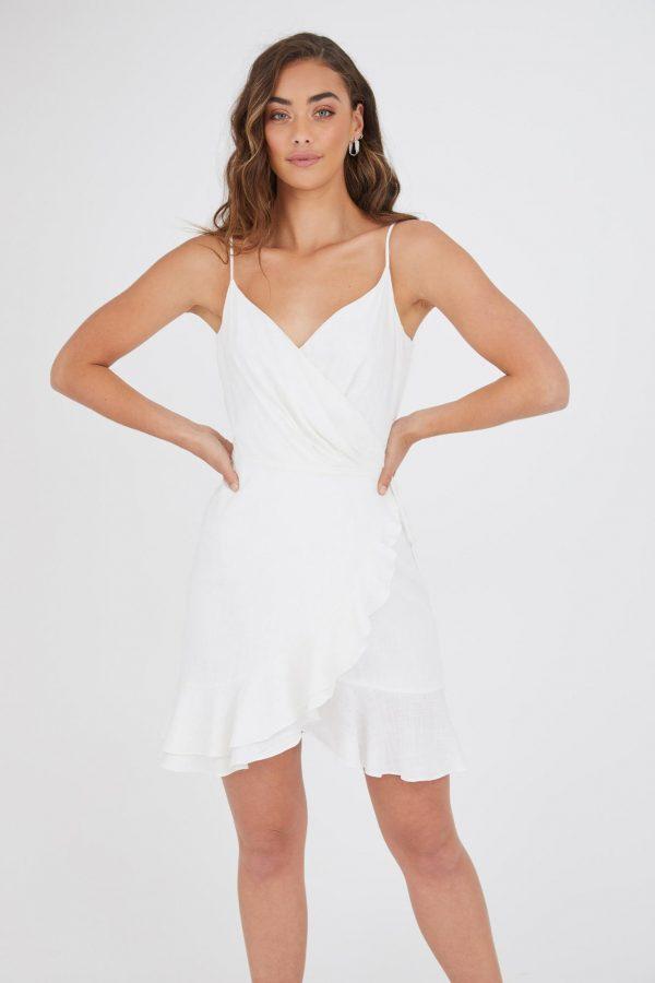 Ferias Dress Ladies Dress Colour is White