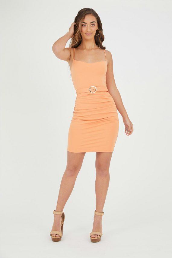 Argentina Dress Ladies Dress Colour is Mango